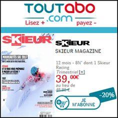 #missbonreduction; Réduction de 20 % sur l'abonnement au Skieur Magazine chez Toutabo.http://www.miss-bon-reduction.fr//details-bon-reduction-Toutabo-i317-c1831854.html