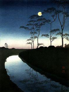 """Koho Shoda, """"Canal Under the Moonlight,"""""""