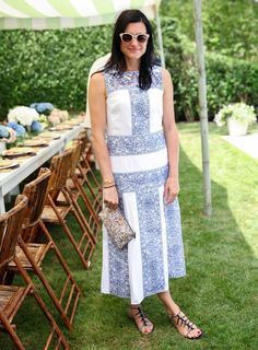 Looking Good: Tabitha Simmons, wearing Tory Burch, at a Net-a-Porter party celebrating Aerin Lauder, photographed by Angela Pham/BFA.com