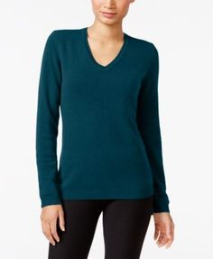 Charter Club Cashmere V-Neck Sweater, Only at Macy's, 18 Colors Available $69.99 Infuse luxury to your casual style with Charter Club's V-neck cashmere sweater.