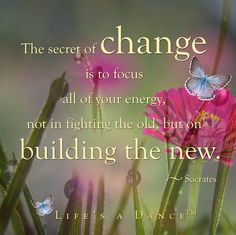the secret of change... quotes for inspiration / life's a dance