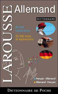 Dictionnaire Larousse de poche ; français-allemand / allemand-français - Couverture - Format classique