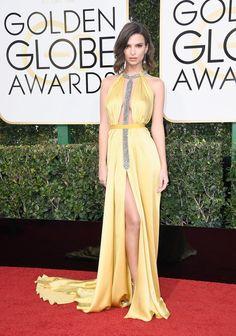 Actress/model Emily Ratajkowski attends the 74th Annual Golden Globe Awards.