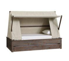 Wyatt Trundle Platform Bed & Canopy | Pottery Barn Kids