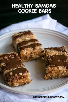 Grain Crazy: Healthy Samoas Cookie Bars