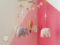 Your place to buy and sell all things handmade Crochet Baby Mobiles, Crochet Mobile, Elephant Size, Crochet Elephant, Baby Crib Mobile, Baby Cribs, Cute Gifts, Baby Gifts, Elephant Mobile
