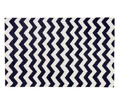 Chevron Wool Rug - Navy | Pottery Barn Kids 3x5' = 0,9 x 1,25 meter = €84 5x8' = 1,5 x 2,4 meter = €255