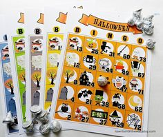 Heres a fabulous game for your home or school Halloween parties. Halloween Bingo is a fun game for any age. You get 15 unique Bingo sheets in Classroom Halloween Party, Halloween Games For Kids, Halloween Party Favors, Kids Party Games, Halloween Birthday, Halloween Activities, Halloween Themes, Halloween Crafts, Game Party