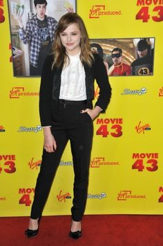 "Chloe Grace Moretz at the Los Angeles premiere of her movie ""Movie 43"" at Grauman's Chinese Theatre, Hollywood."