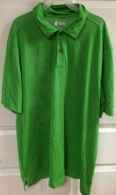 Izod Golf Extreme Function Green Short Sleeve Polo Shirt Size XL X-Large Mens…
