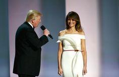 Why Melania Trump Wore an Unknown Fashion Designer to the Inaugural Ball   - HarpersBAZAAR.com