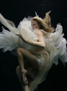 awe, fashion (in the water), floating, girl, movement, photography