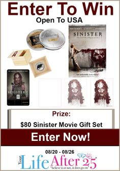 Enter To Win @YourLifeAfter25's @SinisterMovie Prize Pack #Giveaway! #Sinister2 #ad >