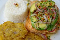 Grilled salmon with avocado salsa recipe
