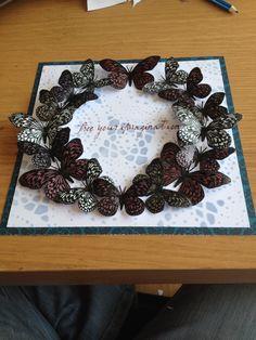 Embossed butterflies