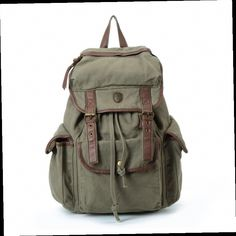 886877a68d Laptop Backpack Bag Big Leisure Leather Canvas Backpack Leather School Bag  Shoulder IPAD Bag                                                We use  selected ...