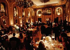 Gold Ballroom at the Hotel du Pont for Carly and Dan's Wedding  Photo credit: Marie Labbancz Design: Elizabethannedesigns.com WWW.HotelduPont.com