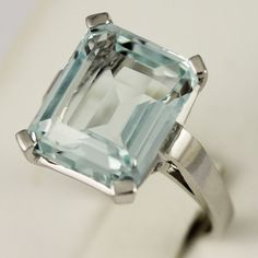 A stunning aqua-marine ring available at Oakville's fine London Gold Jewellery Store.