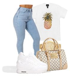 Ion know bout yall. I like it. by bria-queen-ovoxo on Polyvore featuring polyvore, fashion, style, Cynthia Rowley, NIKE, Louis Vuitton and Michael Kors