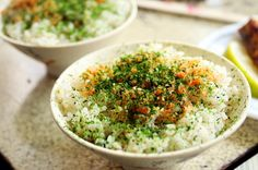 seaweed powder and minced salmon over rice   Taiwanese cuisine