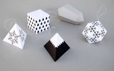 DIY Origami Ornaments - The Minieco Paper Templates Make for Easy DIY Decor (GALLERY)