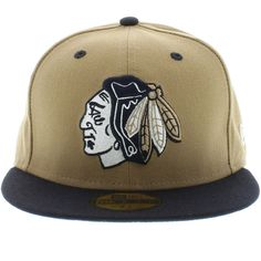 b597ddebeaa Chicago Blackhawks Khaki   Navy ( Gray Under ) 59fifty New Era Cap Nhl  Chicago