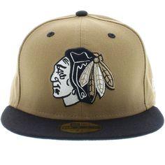 Chicago Blackhawks Khaki & Navy ( Gray Under ) 59fifty New Era Cap
