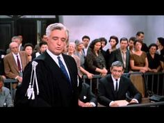 IT STARTED IN NAPLES - Courtroom Scene.  Directed by and starring the great Vittorio de Sica. With Sophia Loren and Clark Gable.