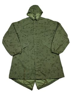 Vintage Military Issue Desert Night Camouflage Fish Tail Parka Mens Size Large