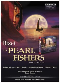 The Pearl Fishers, opera poster designed by Cassidy Rayne Creative