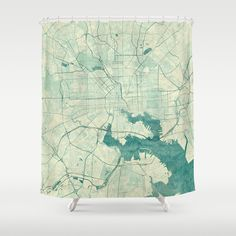 Baltimore+Map+Blue+Vintage+Shower+Curtain+by+City+Map+Art+-+$68.00