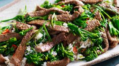 Beef Broccolini Fried Rice | 28 by Sam Wood 28 By Sam Wood, Fried Rice, Fries, Beef, Cooking, Recipes, Food, Meat, Kitchen