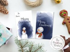 Snowman Christmas Gift Tags for your presents  Digital Download #gifttag #christmasgifttag #snowmancard