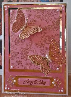 Pink Butterflies Card