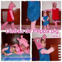 Disfraz Peppa pig Pig Halloween Costume, Pig Costumes, Family Costumes, Cool Costumes, Amazing Costumes, Halloween 2015, Peppa Pig 2, Peppa Pig Cartoon, Cartoon Kids