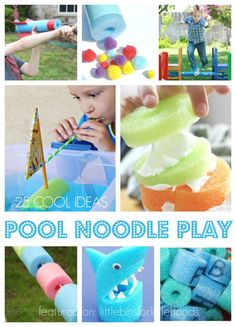 25 Cool Pool Noodle Play Ideas for Kids DIY Pool Noodle Ideas and Activities