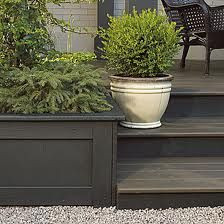 Consider two tons when you're having your #deck #painted — one for the flooring and the other for accents like the back of stairs, planters, etc.