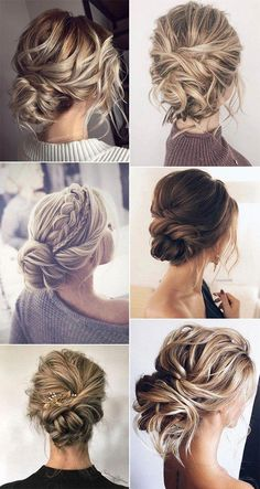trending messy updo wedding hairstyles #obde #weddingideas2019 #MiraHairOil Easy Formal Hairstyles, Bride Hairstyles, Messy Hairstyles, Bridesmaids Hairstyles, Halloween Hairstyles, Hairstyle Short, School Hairstyles, Homecoming Updo Hairstyles, Natural Hairstyles