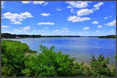 Clean lakes in Augustów near Warsaw