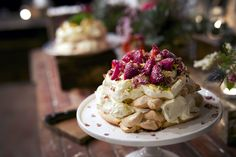Rose Water Pavlova   Passionfruit Pavlova Wedding Cake Recipes — Top Café in Abbotsford, Melbourne- Wedding Catering Venues, Victoria
