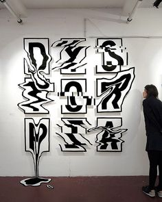 Artist Transforms His 2D Letter #Art Into 3rd Dimension