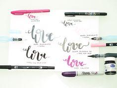 Brush lettering, modern calligraphy, sivellintekstaus, tombow dual brush pen, ABT, Aquash säiliösivellin, käsinkirjoittaminen Brush Lettering, Sharpie, Washi, Bujo, Calligraphy, Diy, Lettering, Bricolage, Do It Yourself
