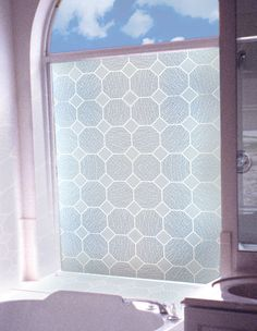 Glass Block Privacy Static Cling Window Film