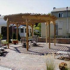 Free-standing Pergola - Octagon Shape - Patio Designs and ...