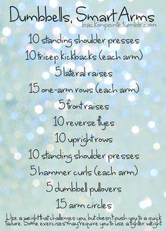 • arm workout •