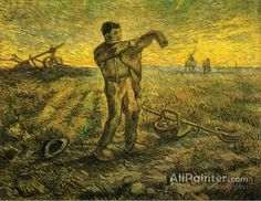 Vincent Van Gogh Evening: The End Of The Day (after Millet) oil painting reproductions for sale