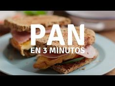 Pan casero con semillas en 3 minutos - YouTube Garbanzo Bean Flour, Healthy Recipes, Healthy Food, Sandwiches, Gluten Free, Keto, Youtube, Salads, Squash Bread