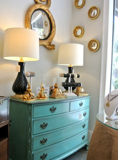 love the color scheme of: white, Tiffany blue, black, and Gold.