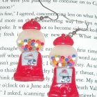 Polymer clay vintage gumball machine earrings - by Cobalt Moon Jewelry
