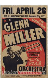 Glenn Miller, my idol! Jazz Blues, Blues Music, Vintage Concert Posters, Vintage Posters, Playlists, Glenn Miller, Music Flyer, Jazz Music, Reggae Music